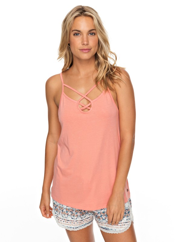 0 Romantic Way Strappy Top Pink ERJKT03426 Roxy