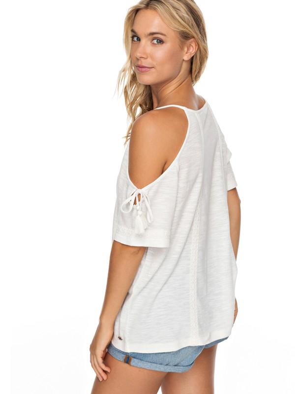 0 Hills Of Love Cold Shoulder Short Sleeve Top White ERJKT03427 Roxy