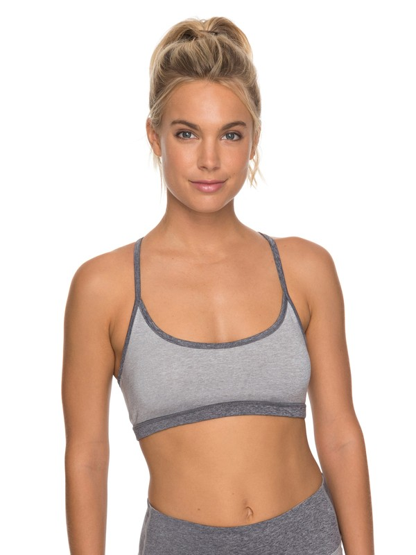 0 Crazy Lullaby Sports Bra Grey ERJKT03434 Roxy