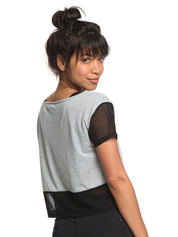 0 Meaning Of Soul - T-shirt de sport pour Femme Gris ERJKT03440 Roxy