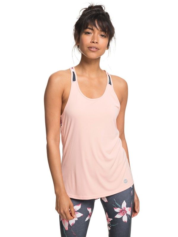 0 Be You - Camiseta sin mangas de diseño técnico para Mujer Negro ERJKT03445 Roxy