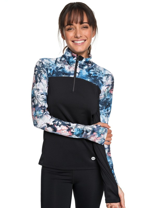 0 Snow Piercer Technical Long Sleeve Top Blue ERJKT03455 Roxy