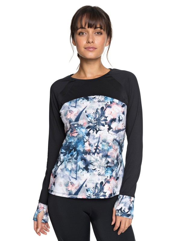 0 Cold Run - Technical Long Sleeve Top for Women Blue ERJKT03456 Roxy