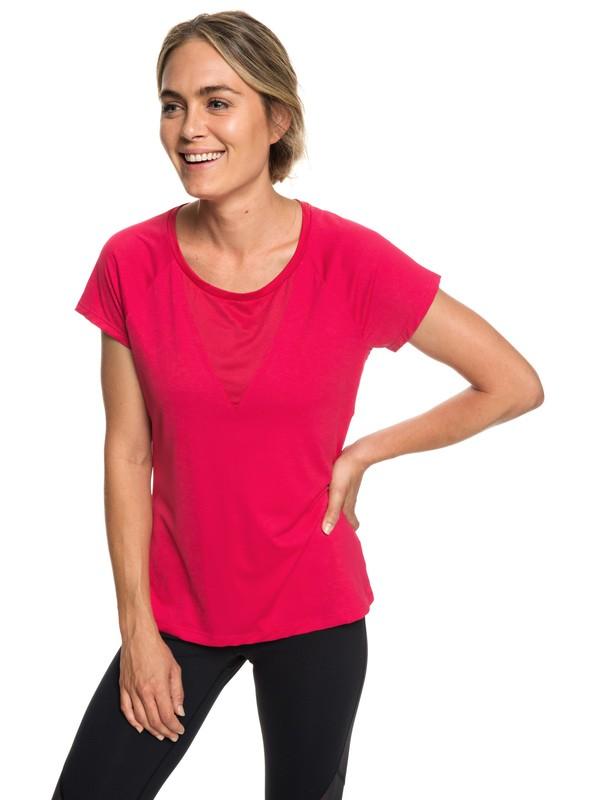 0 Chasing Sunset - T-shirt de running pour Femme Rose ERJKT03508 Roxy