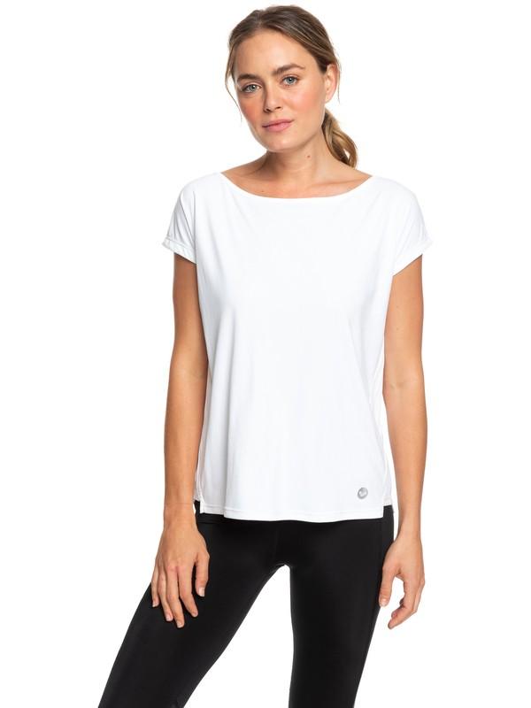 0 Dont Be Shy - T-shirt de sport pour Femme Blanc ERJKT03514 Roxy
