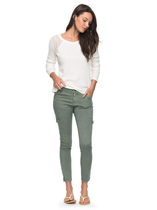 0 Baya  Skinny Cargo Pants Green ERJNP03160 Roxy