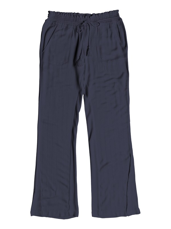 0 Oceanside Flared Linen Pants Blue ERJNP03184 Roxy
