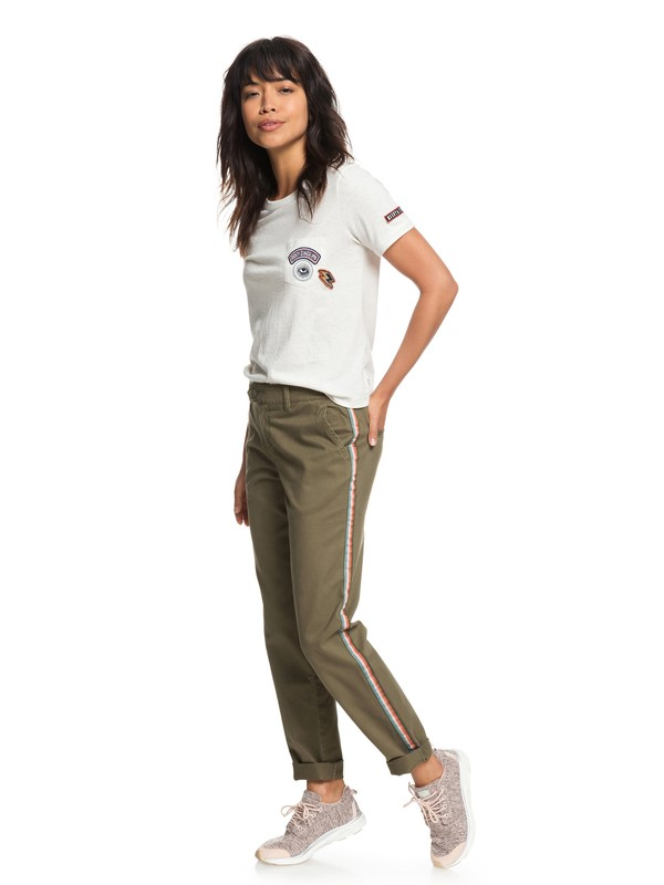 0 Poetry Soul Chinos Green ERJNP03189 Roxy