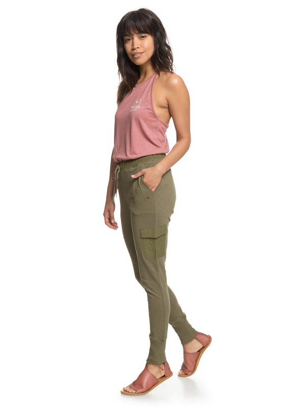 0 Beautiful Rhyme Joggers Green ERJNP03205 Roxy