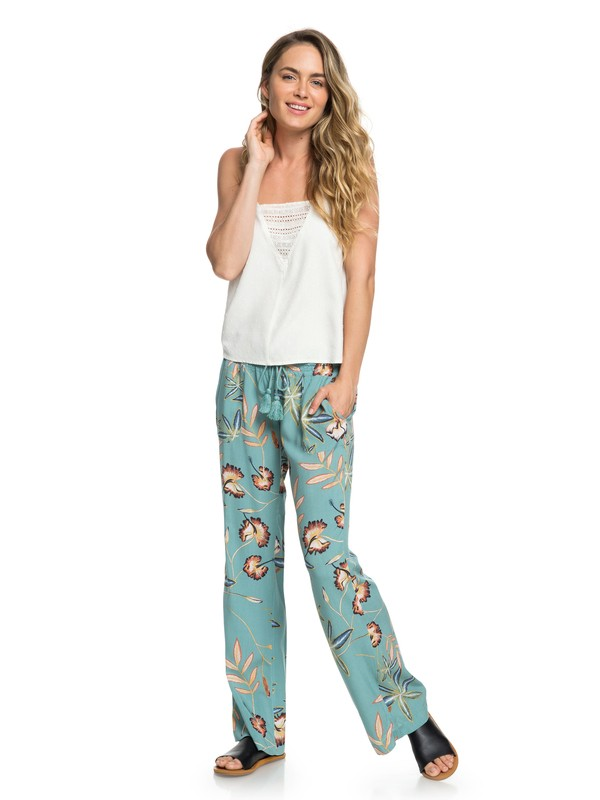 0 Oceanside Flared Beach Pants Blue ERJNP03208 Roxy