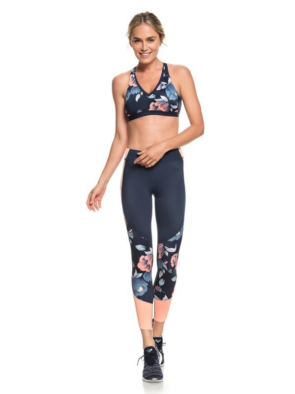0 Sandy Vocation - Legging de sport 7/8 UPF 50 pour Femme Bleu ERJNP03214 Roxy