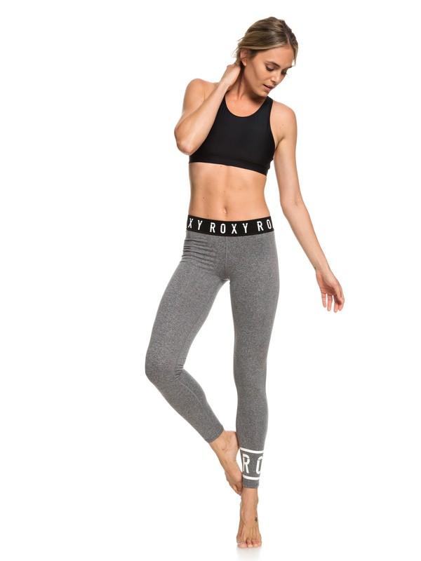 0 Tears In Rain - Legging de yoga pour Femme Noir ERJNP03216 Roxy
