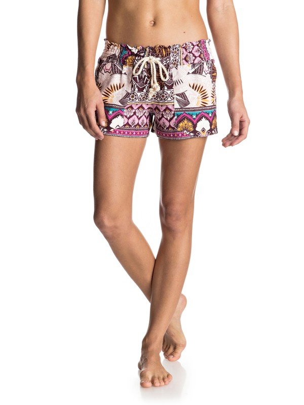 0 Oceanside Printed Beach Shorts  ERJNS03092 Roxy