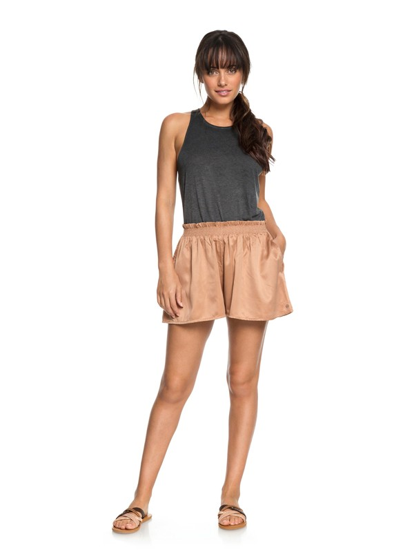 0 Dream Of Canyon Sateen Shorts Brown ERJNS03158 Roxy