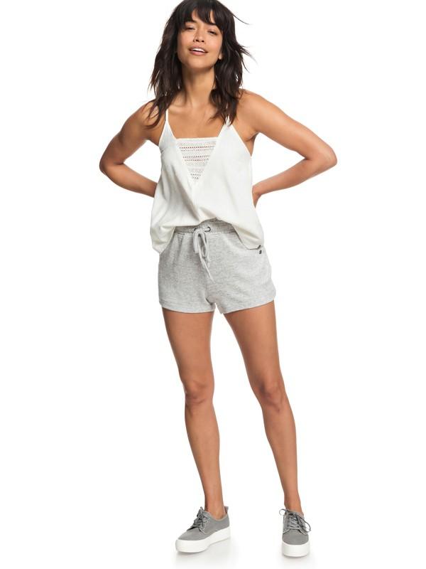 0 Little Smile Sweat Shorts Grey ERJNS03179 Roxy