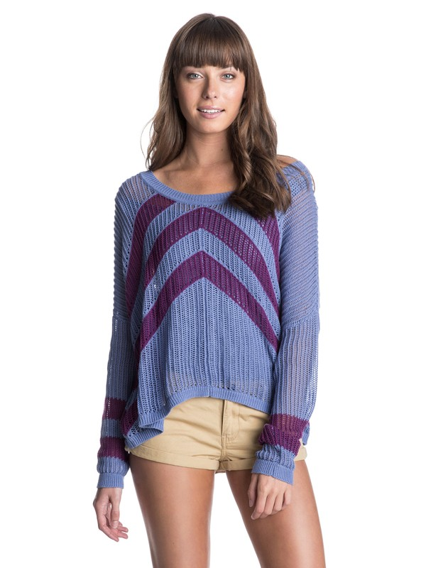 0 Rocky Point Stripe Sweater  ERJSW03038 Roxy