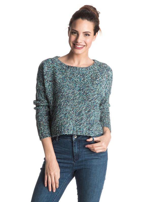 0 True To Your School Cropped Sweater  ERJSW03142 Roxy