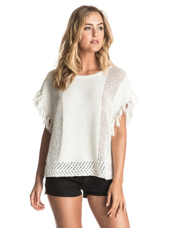 0 Ladies Of The Canyon Fringe Poncho  ERJSW03167 Roxy