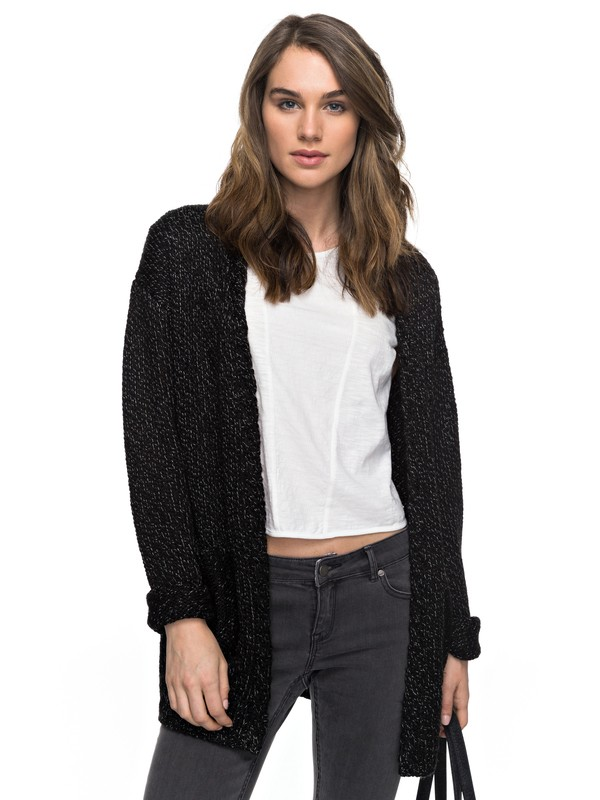 0 Time Break - Cardigan Noir ERJSW03189 Roxy