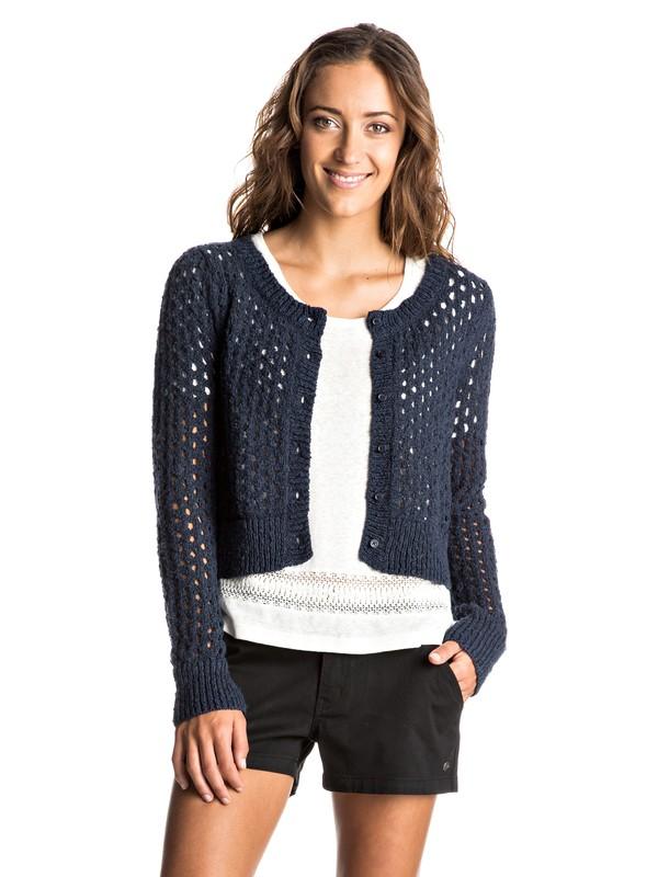 0 My Adventure Cropped Knitted Cardigan  ERJSW03191 Roxy
