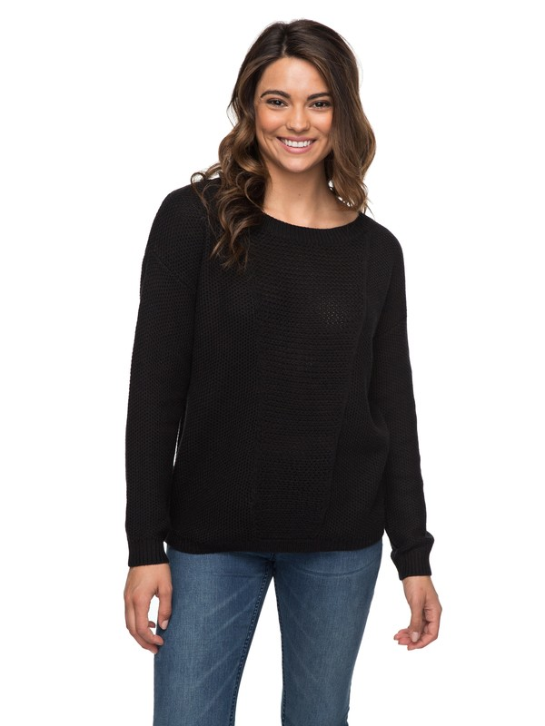 0 Deserve Good Things - Pullover Schwarz ERJSW03211 Roxy