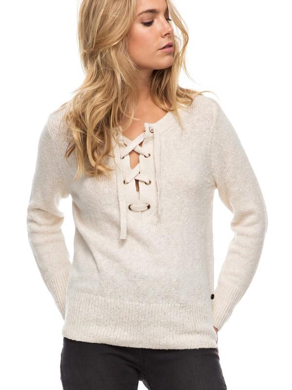 0 My Little Bliss Lace-Up Sweater  ERJSW03220 Roxy