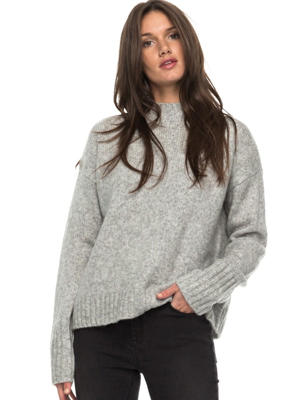 0 Be Wild And Wonder - Turtle Neck Jumper Grey ERJSW03221 Roxy
