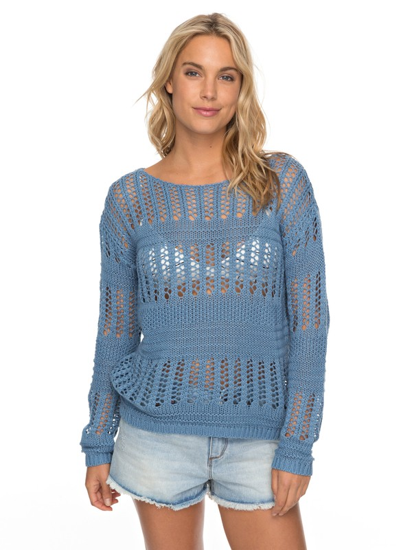 0 Blush Seaview - Jumper for Women Blue ERJSW03241 Roxy