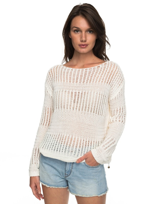 0 Blush Seaview - Pullover Weiss ERJSW03241 Roxy