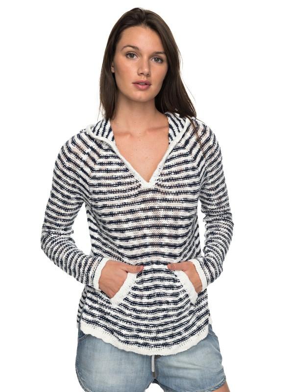 0 Slouchy Morning Stripe Hooded Sweater  ERJSW03248 Roxy
