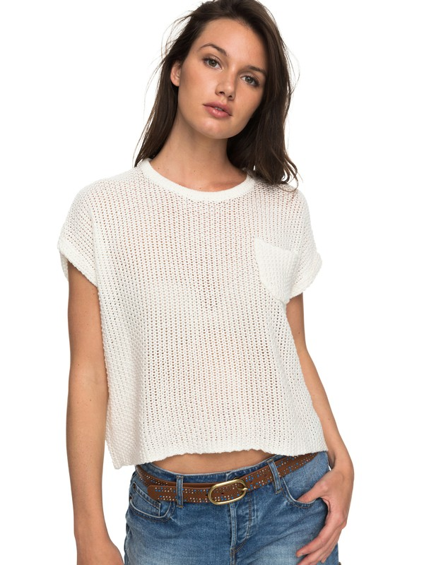 0 Breezy Days - Knitted Top White ERJSW03250 Roxy