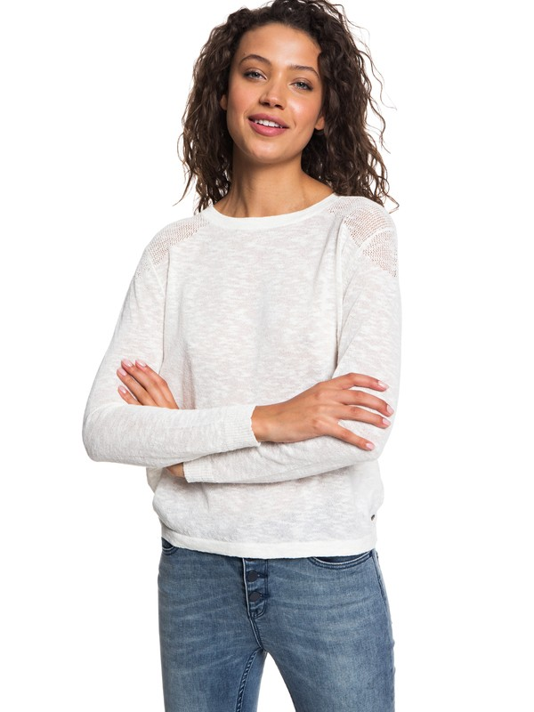0 Find Your Wings Sweater White ERJSW03251 Roxy