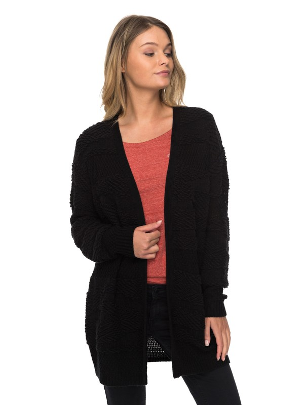 0 Magnolia Sky - Cardigan pour Femme Noir ERJSW03254 Roxy