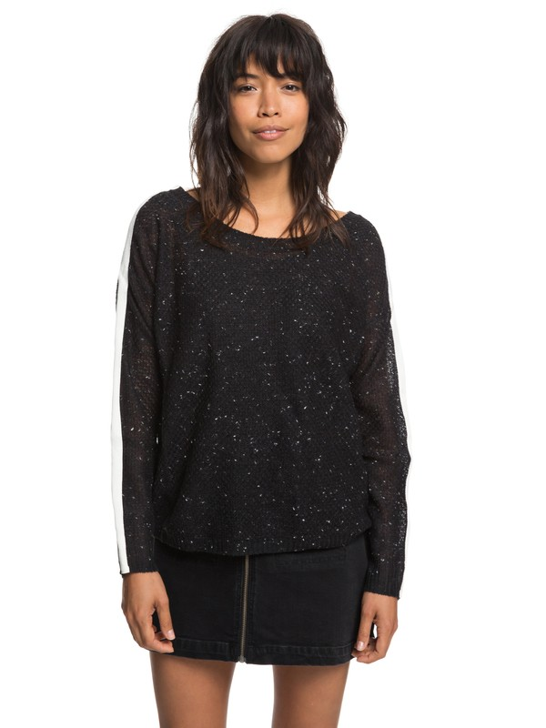 0 One Day Down Sweater Black ERJSW03272 Roxy