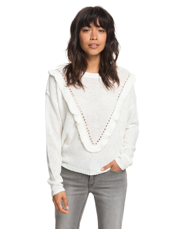 0 One Fine Stay Sweater White ERJSW03284 Roxy