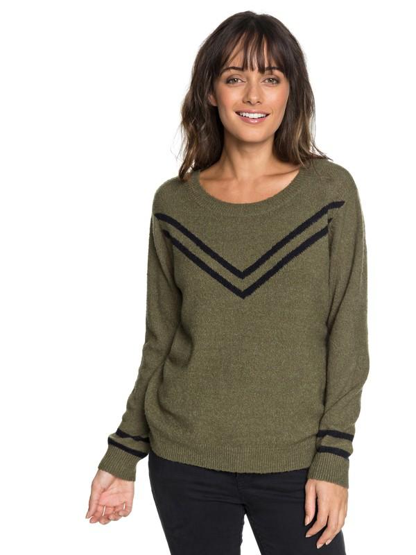 0 Town Sweater Green ERJSW03286 Roxy