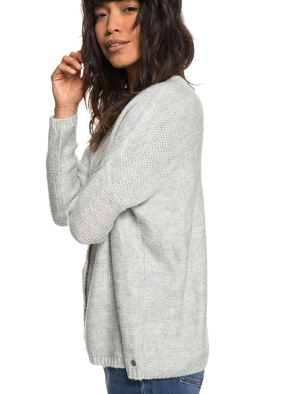 0 Stillest Hours - Cardigan for Women Grey ERJSW03290 Roxy