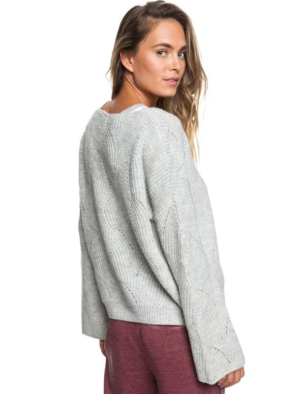 0 See You In Bali Bell Sleeve Sweater Grey ERJSW03300 Roxy