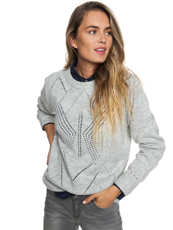 0 Candidate Waves Sweater Grey ERJSW03305 Roxy