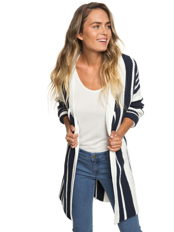 0 Cardigan de Largo Medio  Morning To Palu Bay Blanco ERJSW03309 Roxy