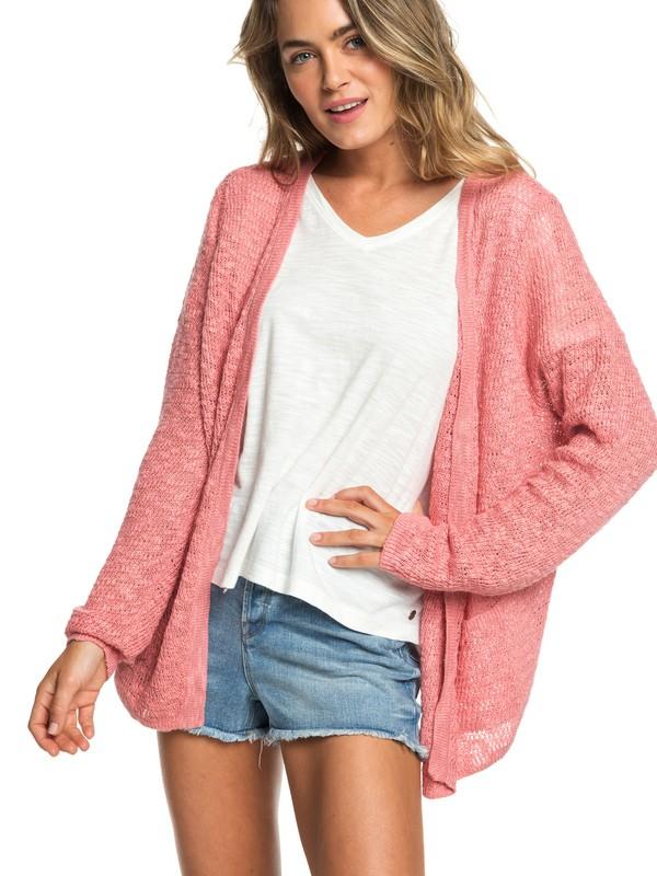 0 Liberty Discover - Jersey Abierto con Botones para Mujer Rosa ERJSW03310 Roxy