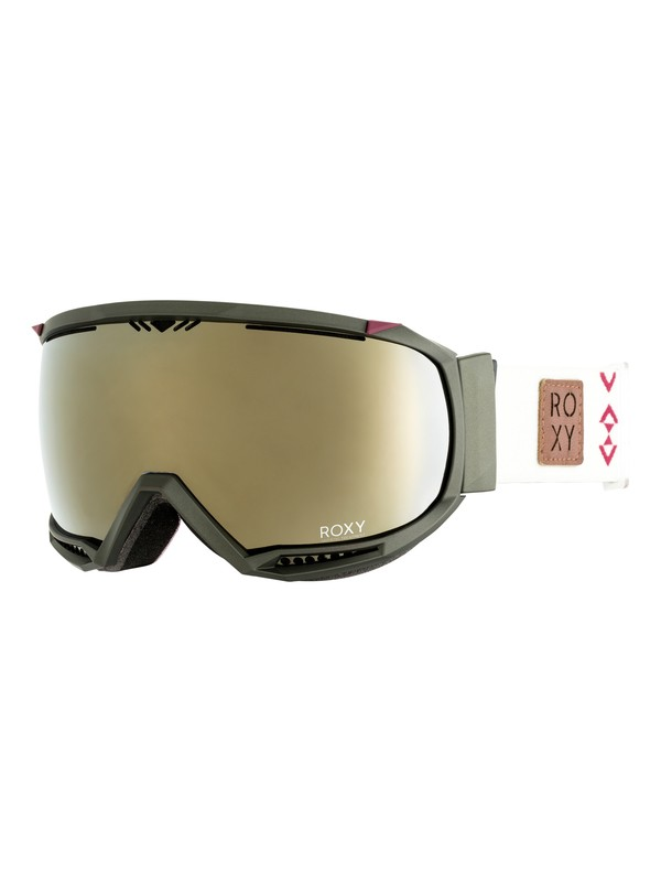 0 Hubble - Masque de ski/snowboard pour Femme Vert ERJTG03054 Roxy