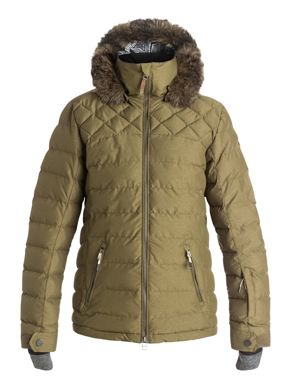 0 Quinn Quilted Snow Jacket  ERJTJ03046 Roxy