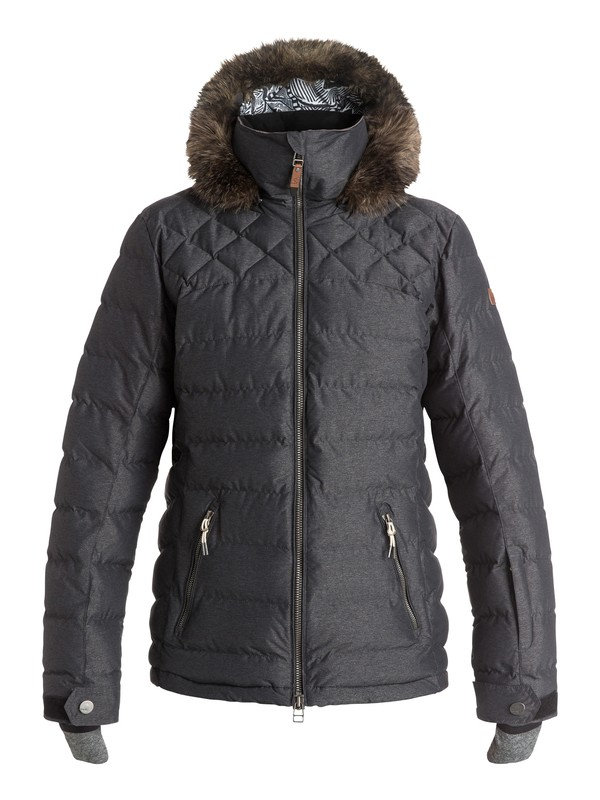 0 Quinn - Quilted Snow Jacket Black ERJTJ03046 Roxy