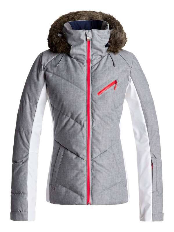 0 Snowstorm - Snow Jacket for Women Grey ERJTJ03105 Roxy