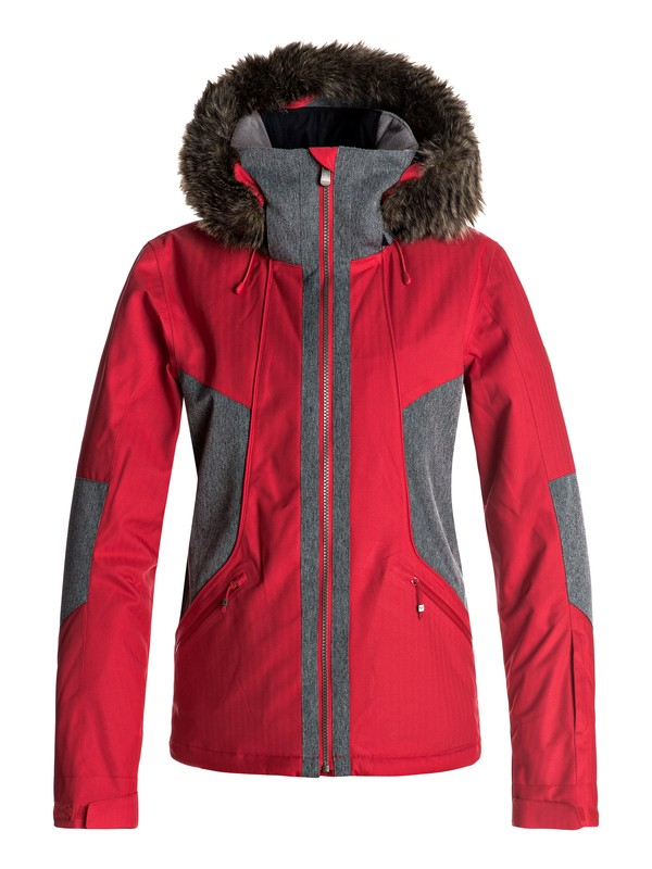 0 Atmosphere - Snow Jacket for Women Red ERJTJ03108 Roxy
