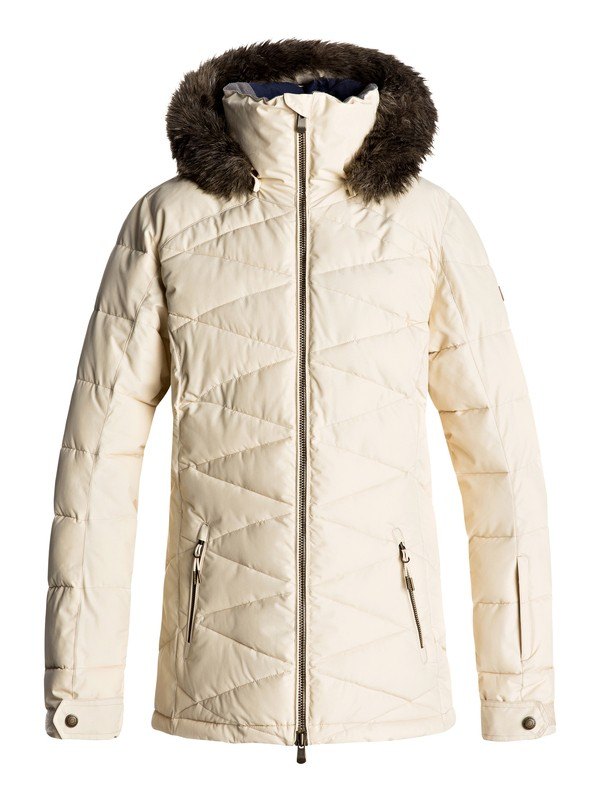 0 Quinn - Snow Jacket for Women Beige ERJTJ03111 Roxy