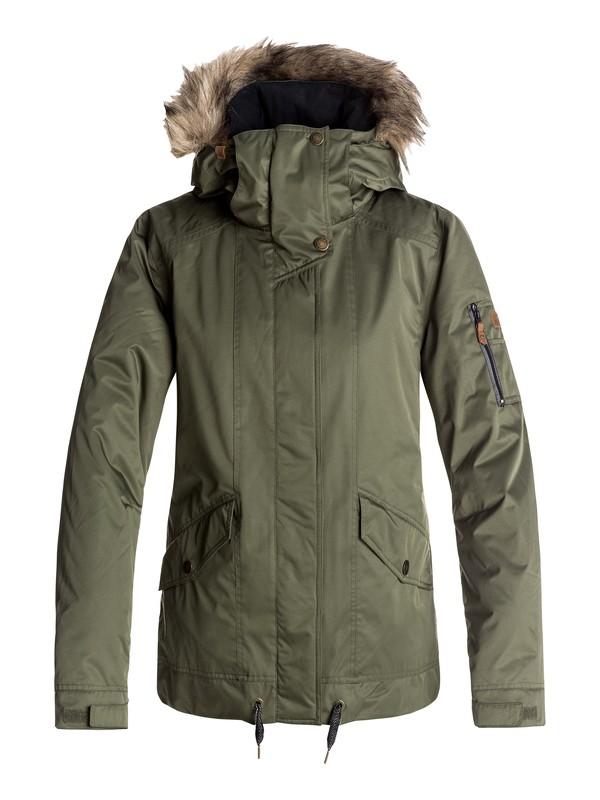 0 Grove - Snow Jacket for Women Green ERJTJ03114 Roxy