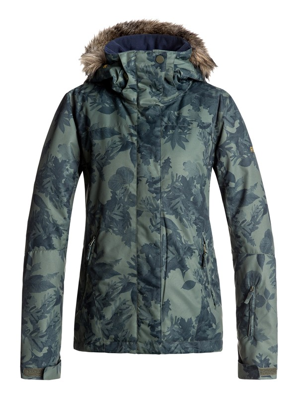 0 Jet Ski - Snow Jacket for Women Green ERJTJ03124 Roxy