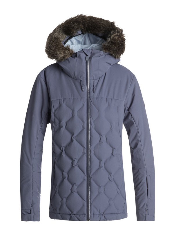 0 Breeze - Quilted Snow Jacket Blue ERJTJ03154 Roxy